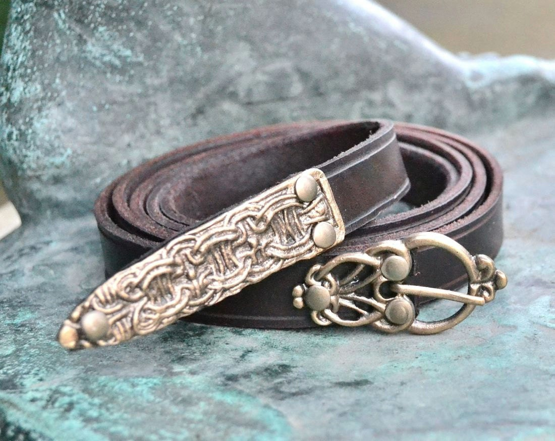 Leather viking belt belts for re enactors living history