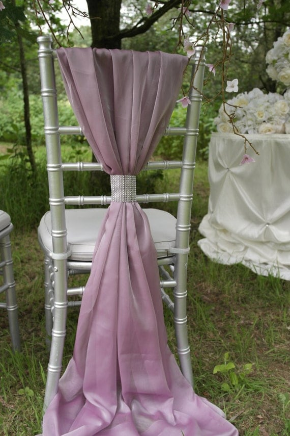 Wedding Chair Sash - Rose - Wedding Chair Cover Sash - Chair Sash Decor