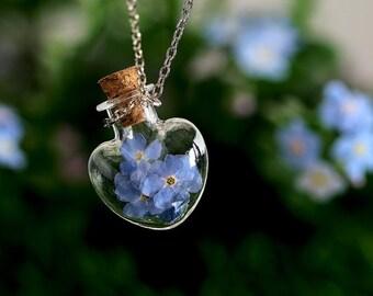 Forget-me-not flowers Trockblumen chain kt018