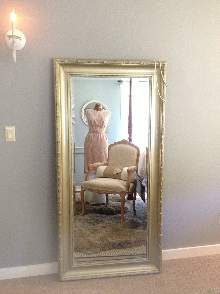 Gold ornate wall mirror large leaning mirror dressing room for Leaning wall mirror