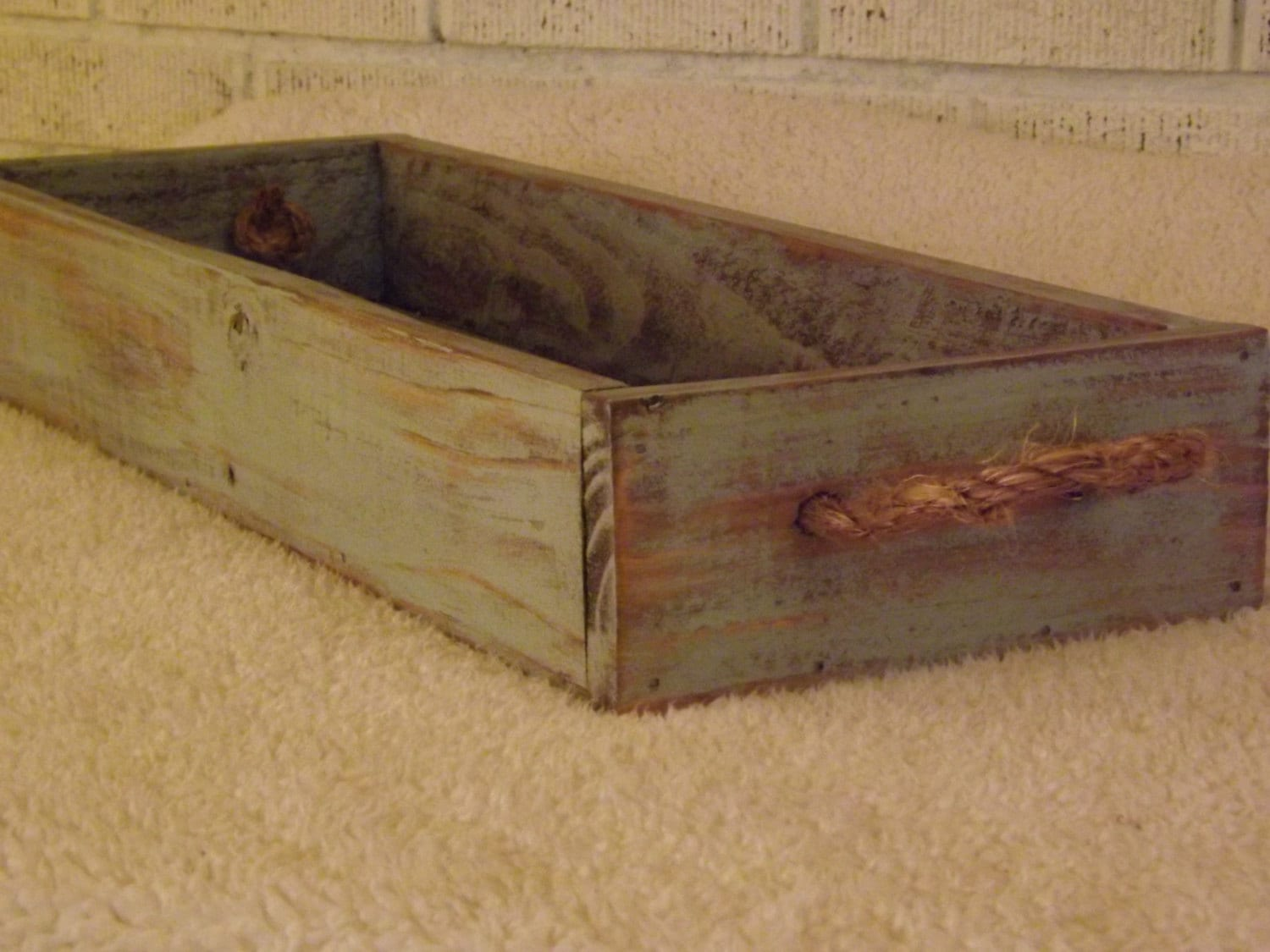 Wood planter centerpiece indoor outdoor table tray serving