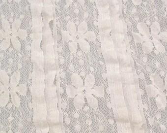 black stretch Lace Fabric Beige Cake Dress Fabric ivory Wedding Fabric DIY Handmade