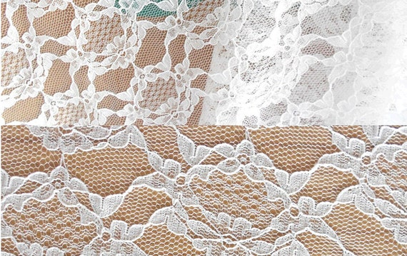 Ivory white lace fabric by the yard or wholesale by for Cheap fabric by the yard