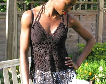 Handmade summer top crochet.