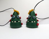 Set of two Christmas tree ornaments