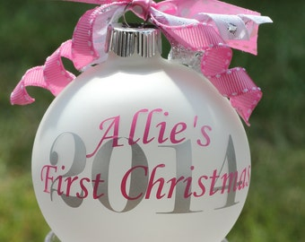 Monogram Baby's First Christmas Ornament