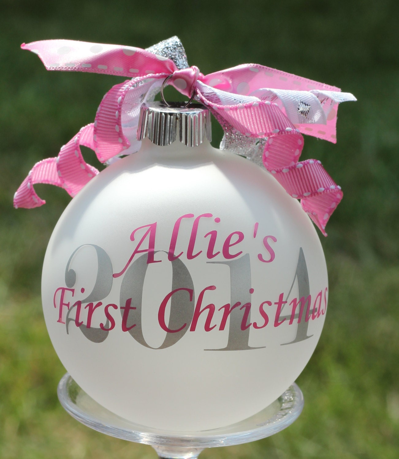 Babys first christmas photo ornament