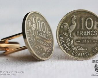 Cufflinks - French 10 Franc Coins