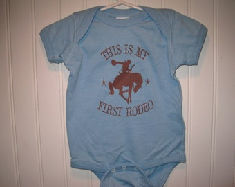 Baby Onesie // This Is My First Rodeo