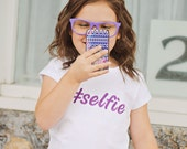 Selfie Embroidered Shirt, Custom Embroidered Name, Perfect for your little one that loves taking selfies