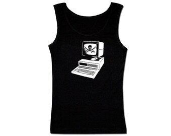 Men's Pirate Tank Top - Computer Pirate