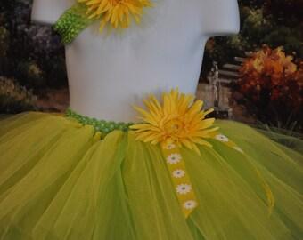 Sunflower Tutu, Girls Tutu, Baby Tutu, Infant Tutu,Tutu,Sunflower skirt, Photo Prop, Infant skirt