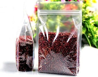 50 pcs of Clear Plastic Zip Lock Stand up Pouch Packing Bag - Small Size