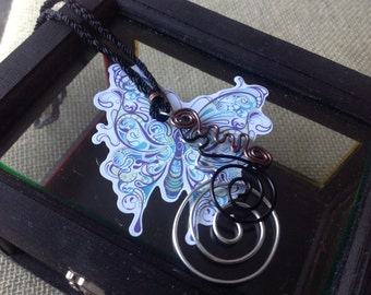 Twisted pendant necklace