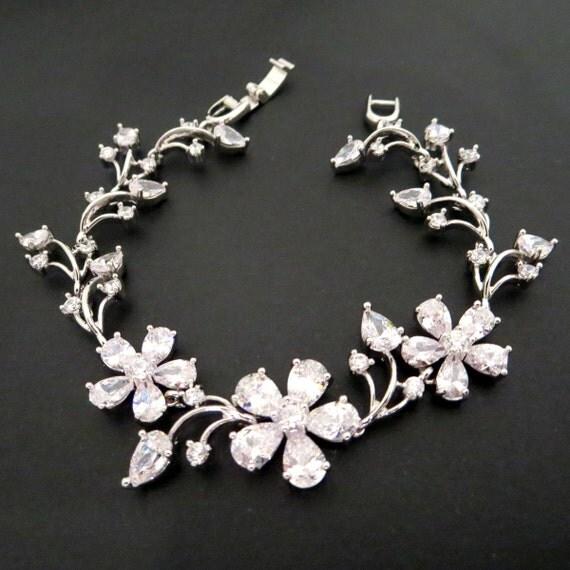 Bridal Flower Bracelet : Bridal flower bracelet wedding by theexquisitebride