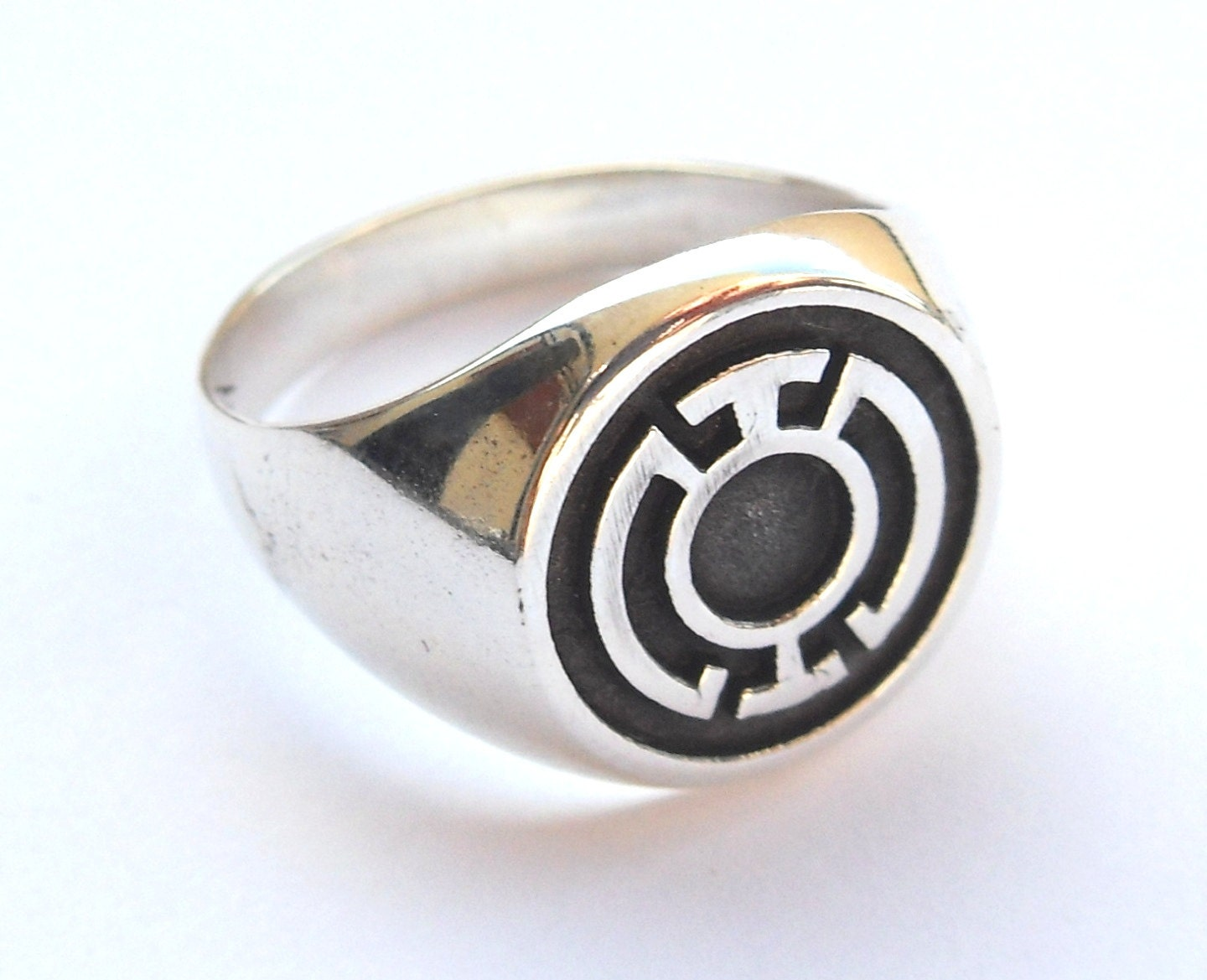blue lantern corps green lantern ring sterling by