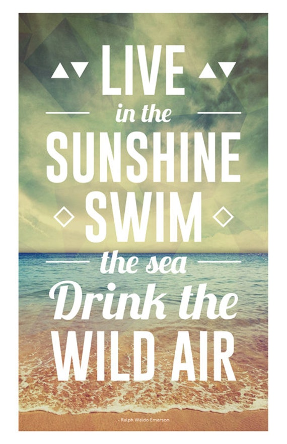 Live In The Sunshine Swim The Sea Drink The By