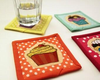 Iron on applique: cupcakes