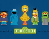 Sesame Street TV Characters - Digital PDF Cross Stitch Pattern