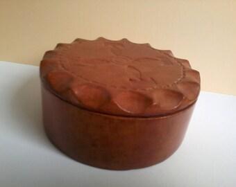 adorable little box brick color leather