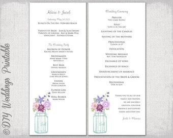 sweet sixteen program template - wedding program template sunflowers wedding
