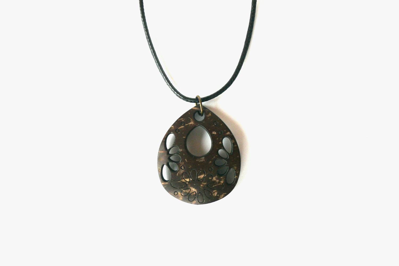coconut shell bead necklace coconut shell bead pendant