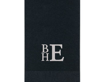 Personalized Monogram Hand Paper Guest Towels Towel Napkins Wedding Hostess Bathroom