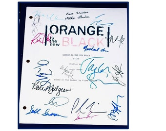 Orange is the New Black TV Signed Autographed Script Laura Prepon, Jason Briggs, Taylor Schilling, Kate Mulgrew, Uza Aduba
