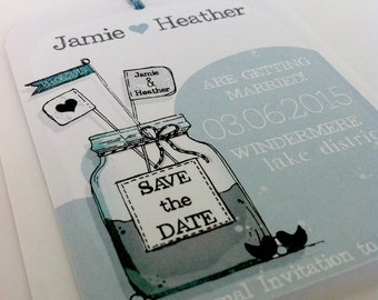 Hand Drawn Save The Date Tag