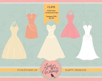 Wedding dress clipart – Etsy