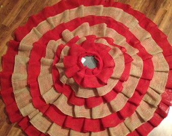 "60"" ruffled burlap tree skirt"