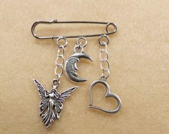 Shakespeare Midsummer Night's Dream kilt pin brooch (38mm)