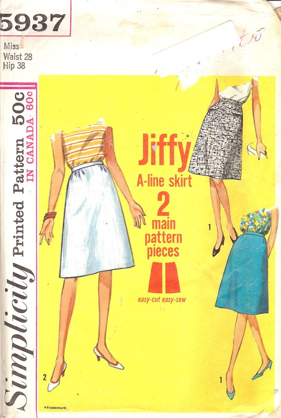 simplicity 5937 jiffy a line skirt sewing pattern id10