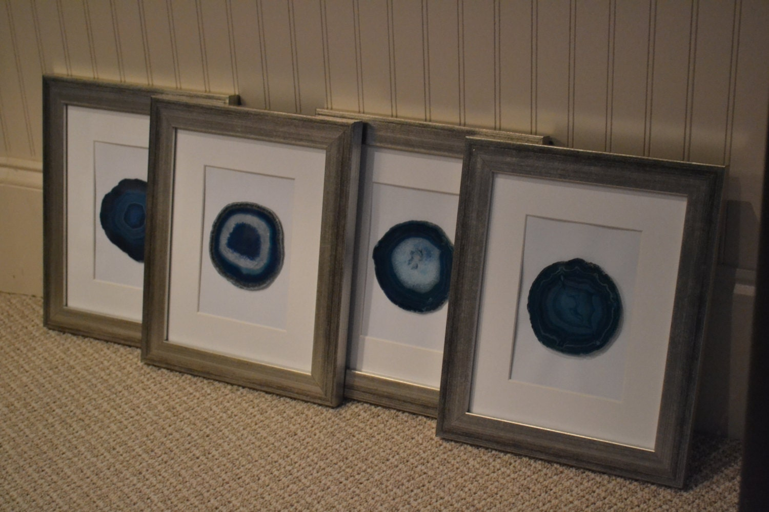 framed agate slices zoom