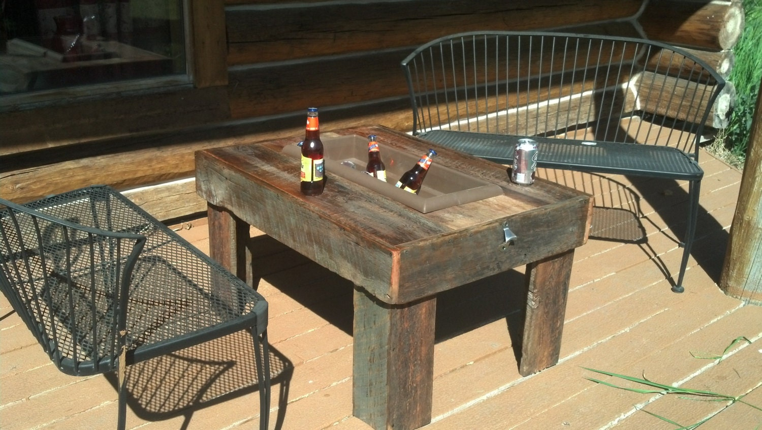 reclaimed wood barn wood patio table coffee table by 406rustic