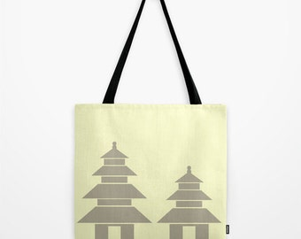 Temple Tote Bag- Sand Dollars & Sunshine