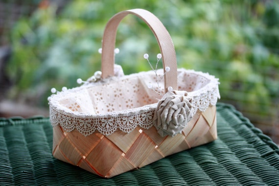 Flower Girl Baskets Burlap : Flower girl baskets wedding burlap by burlapandbutter