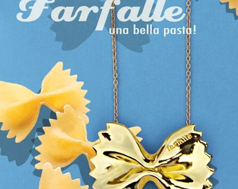 Farfalle Necklace- 18k gold plated