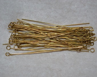 "24ga.  2"" Brass Eyepins - 50 pcs (3076500)"