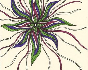 Floral Vibrations print
