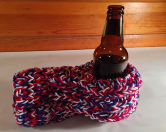 Red, White, and Blue Drink Mitten