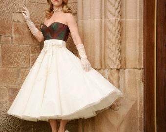 Aggie, Silk Tartan wedding dress