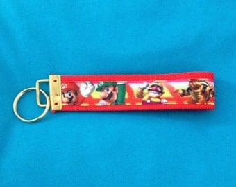 Super Mario Bros key fob holder, wristlet