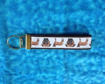 Mastiff wristlet key fob holder keychain