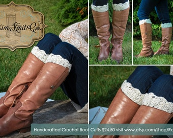 Handcrafted Crochet Boot Cuffs   Boot Toppers