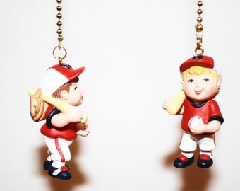 Lil Slugger baseball player ceiling fan or light pull chain or key chain