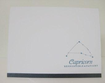 Capricorn Zodiac Birthday Card, Capricorn  Zodiac Constellation Card, Astrology Sign Card