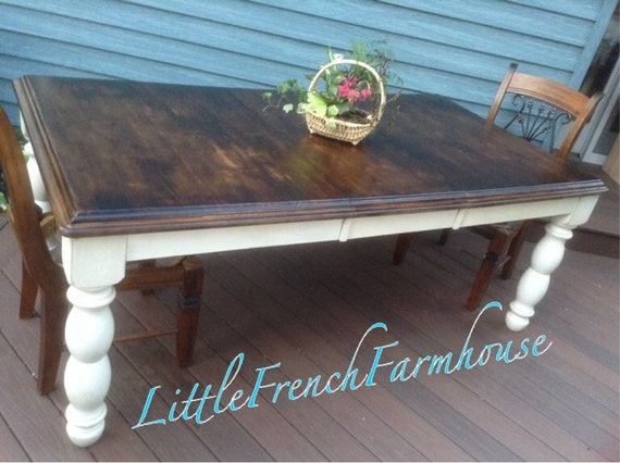 Items similar to FARMHOUSE Table CUSTOM Painted & Stained To Order Harve