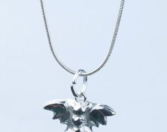Fine Sterling Silver Dragon Necklace