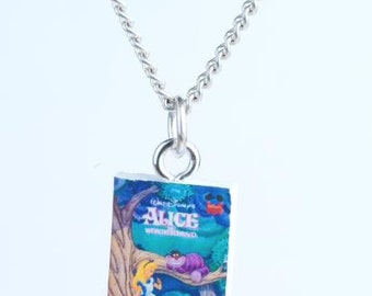 Alice in Wonderland Book Novel Necklace Dr Suess